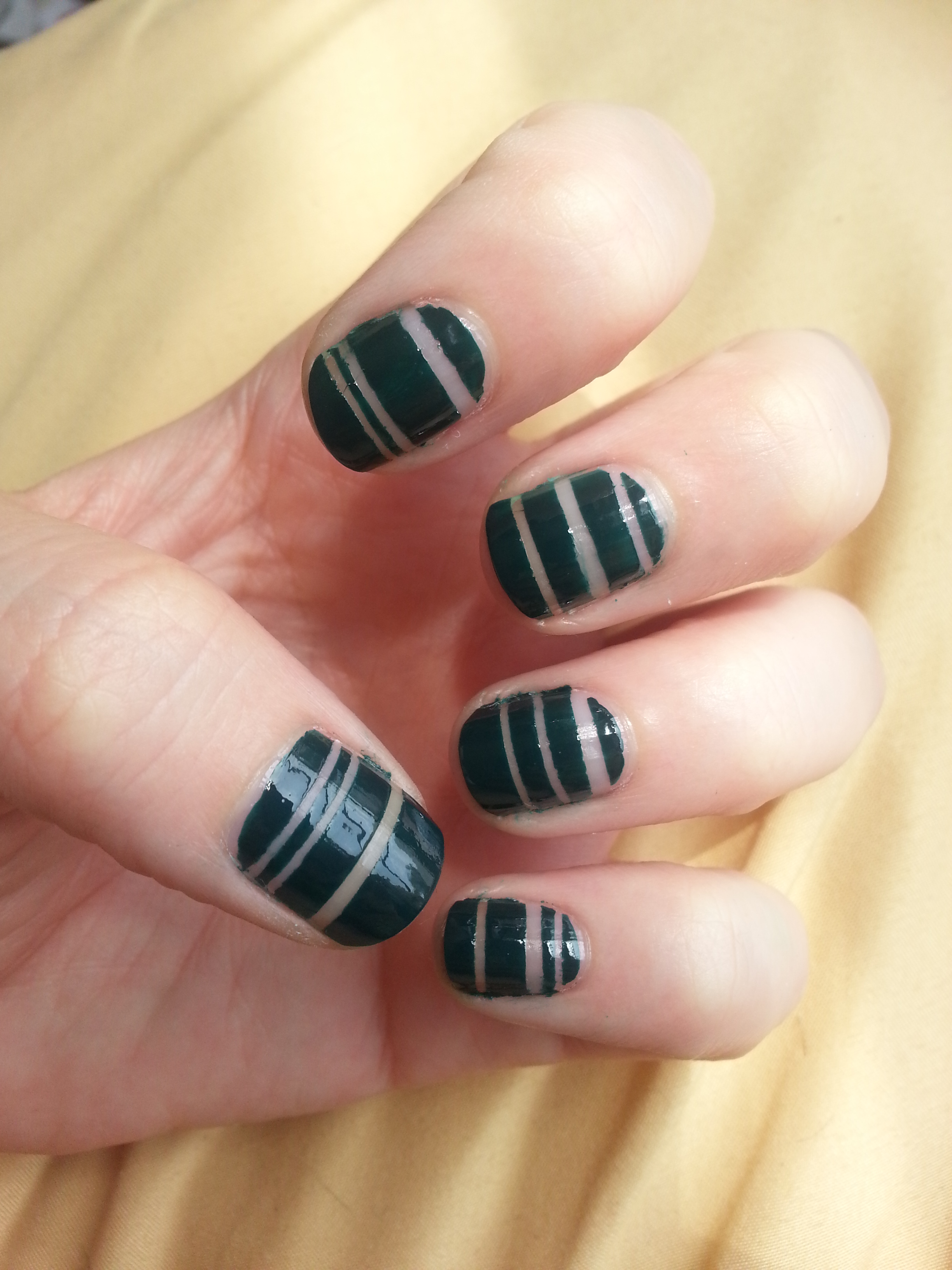 Bare Stripes Nail Art Tutorial plus Polish Review | Nood Mood
