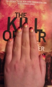 book nail art gradient