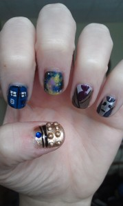 doctor who nail art