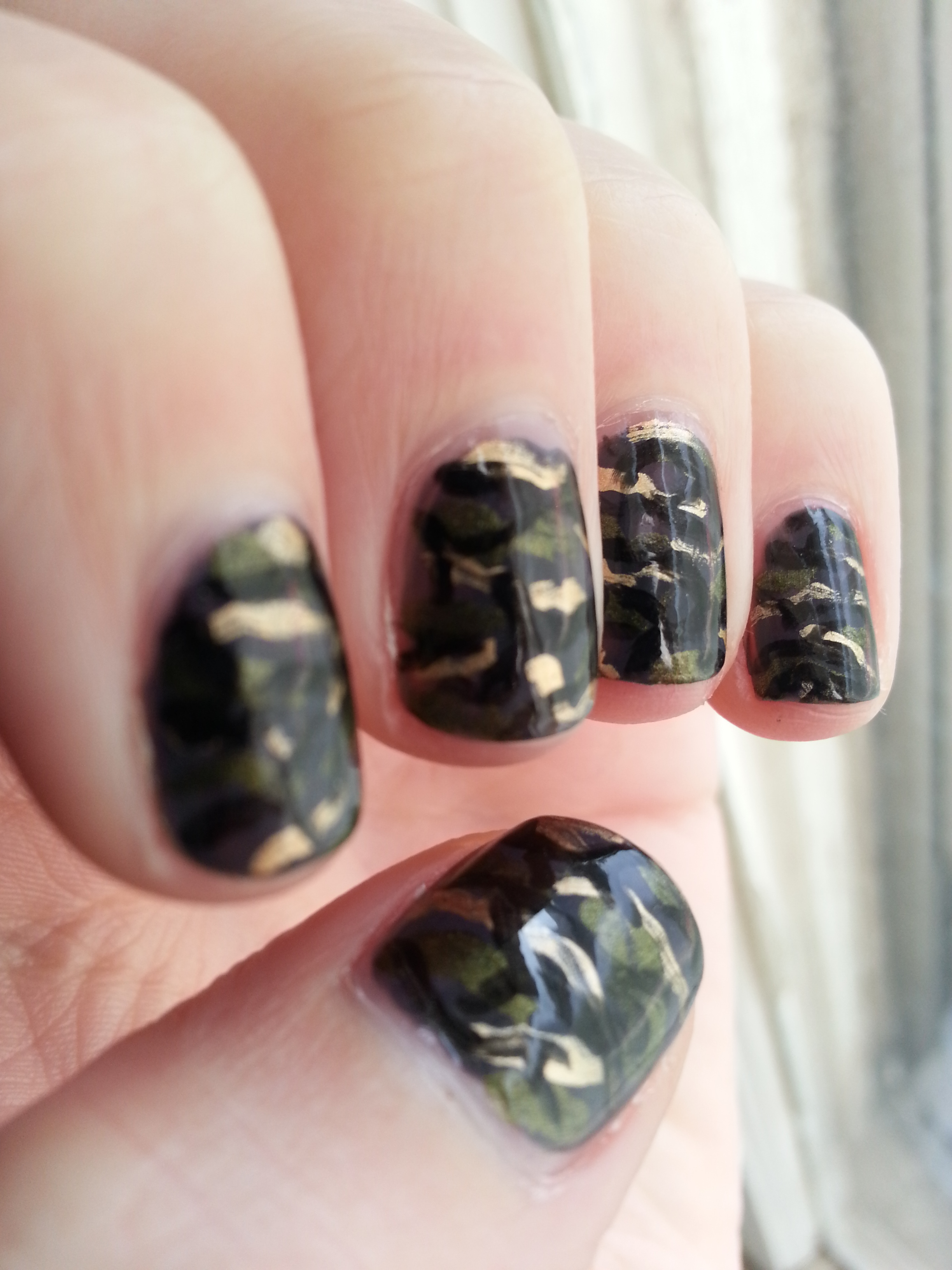 Camo nail designs pictures hey darling polish nail art a go day view images september nail art challenge camo prinsesfo Image collections
