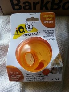barkbox IQ ball ourpets
