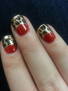 leopard nail art mani