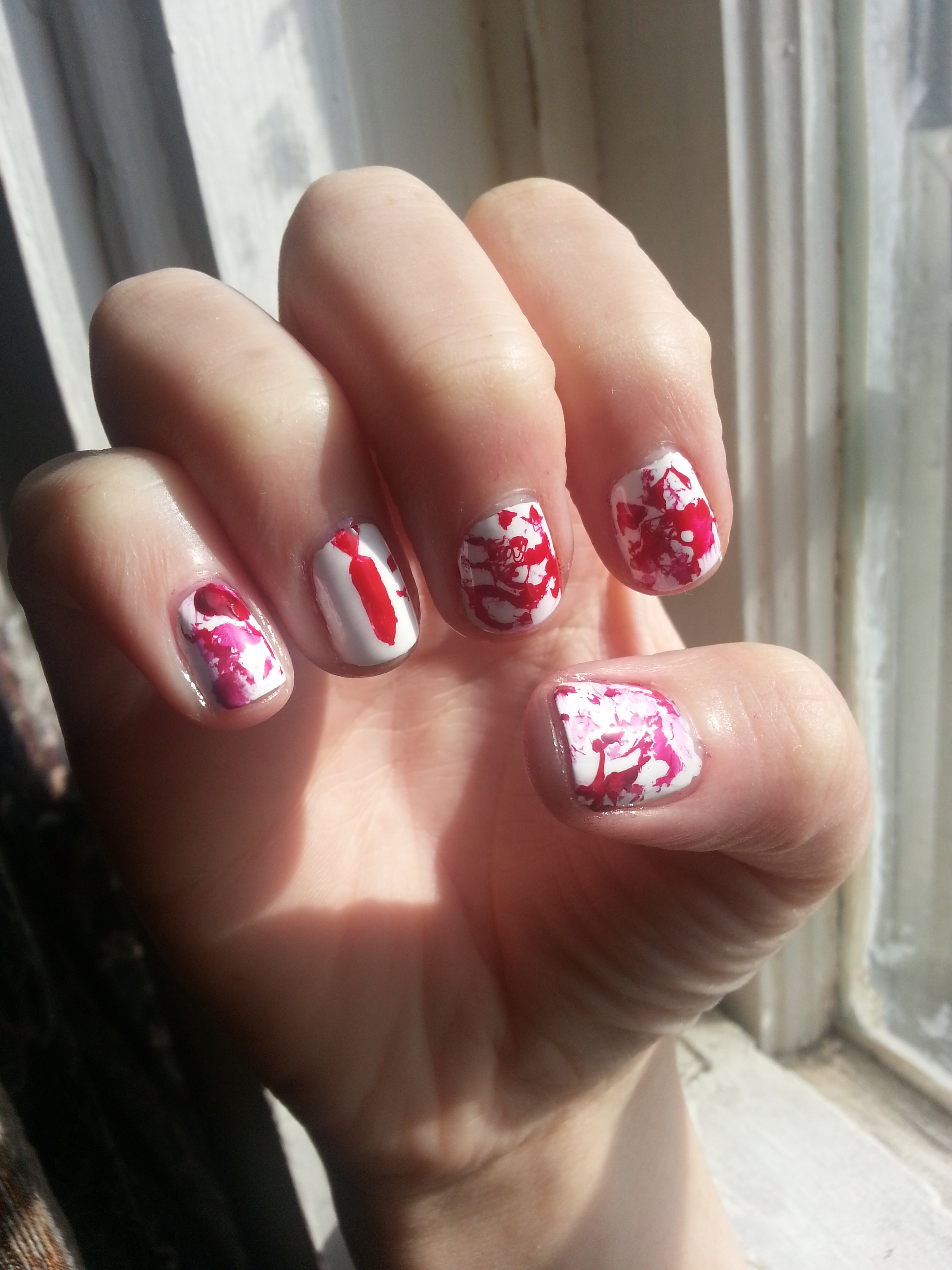 You\'ve Got Red On You (Shaun of the Dead Nails) | Nood Mood