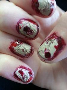 scar tissue nail art
