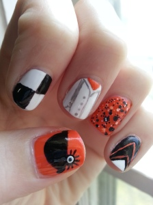 clockwork orange manicure halloween