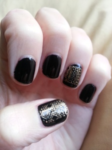 maybelline colorshow nail stickers aztec gold nail art