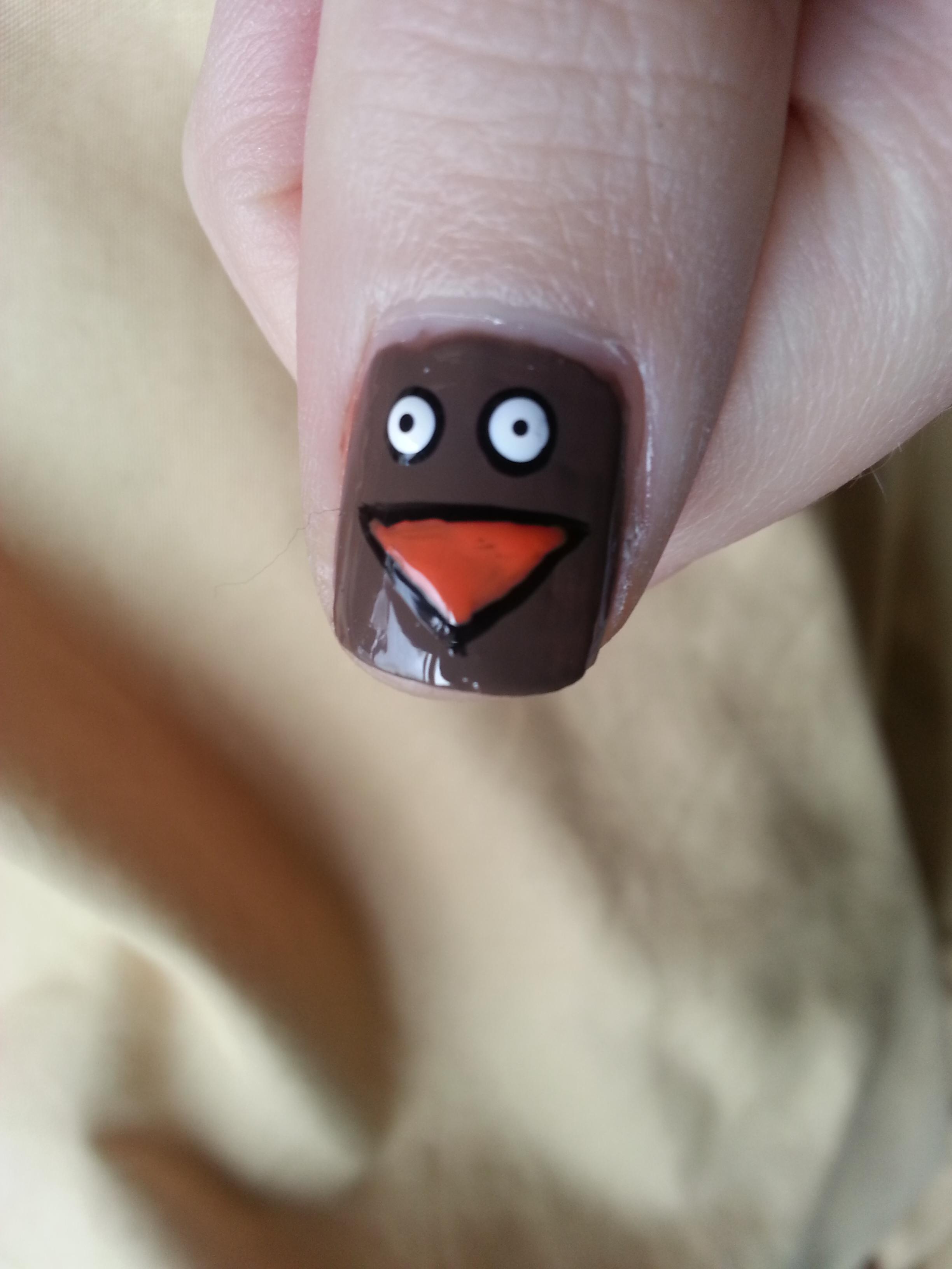 Easy Thanksgiving Nail Art Tutorial Nood Mood