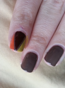 turkey thanksgiving nail art manicure