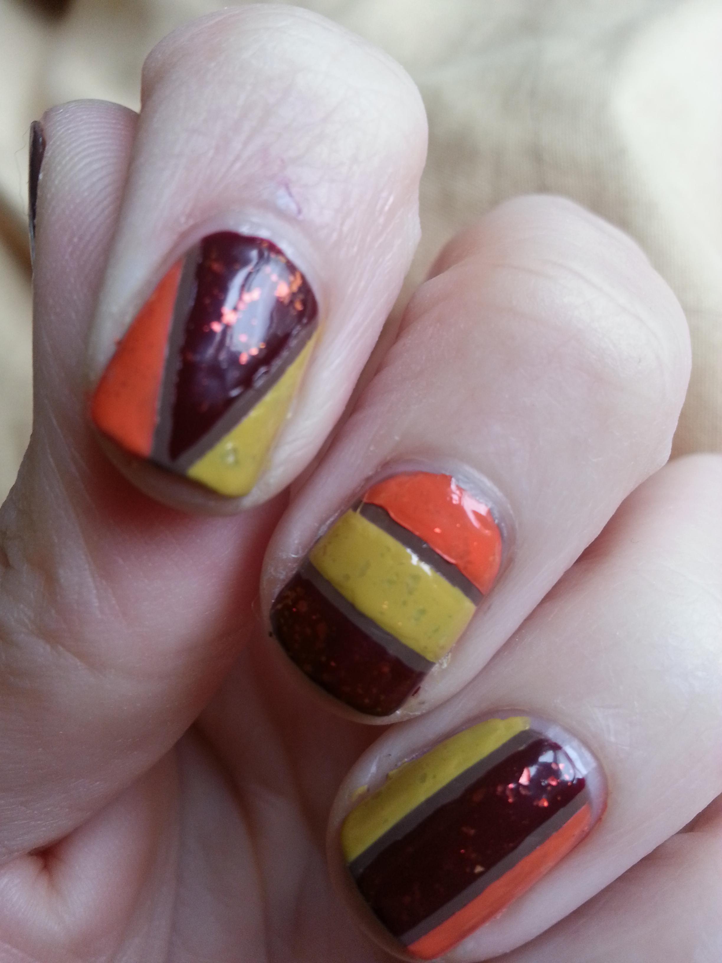 Easy thanksgiving nail art tutorial nood mood turkey thanksgiving nail art manicure prinsesfo Images